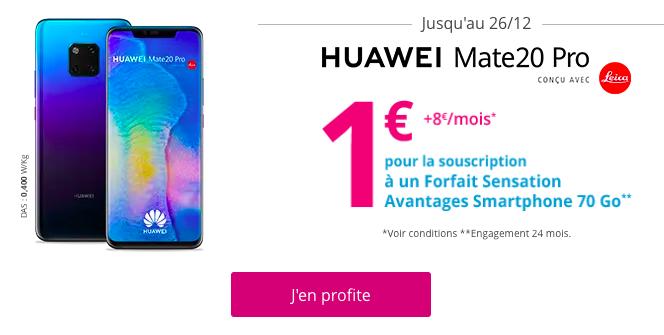 Profiter du Huawei Mate 20 Pro à 1€.