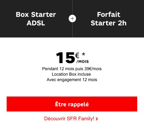 Le forfait SFR 2h avec une box internet.