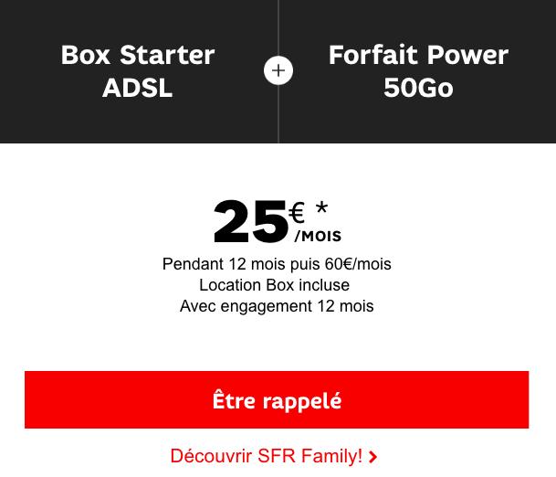 Le forfait 50 Go de SFR avec une box internet.