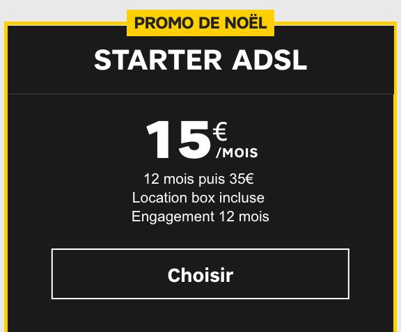 La box SFR Starter.