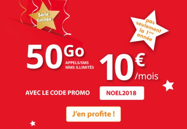 Auchan Télécom promotion forfait sans engagement.