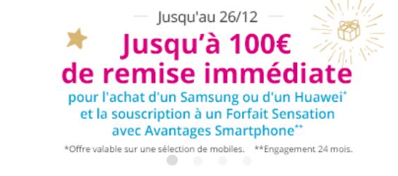 Bons plans pour un smartphone pas cher, avec 100€ de remise chez Bouygues Telecom.