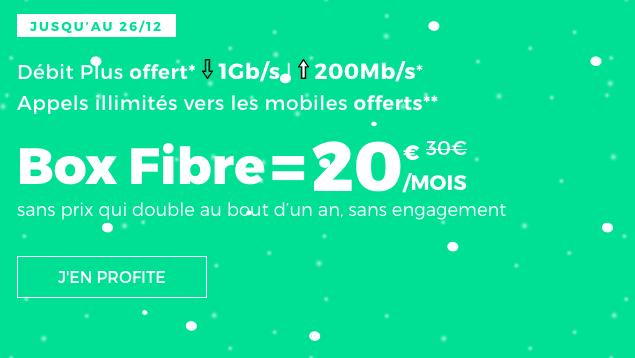 Promotion box internet fibre optique chez RED by SFR.