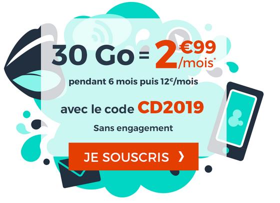 30 Go de données mobiles 4G avec le forfait pas cher de Cdiscount Mobile.