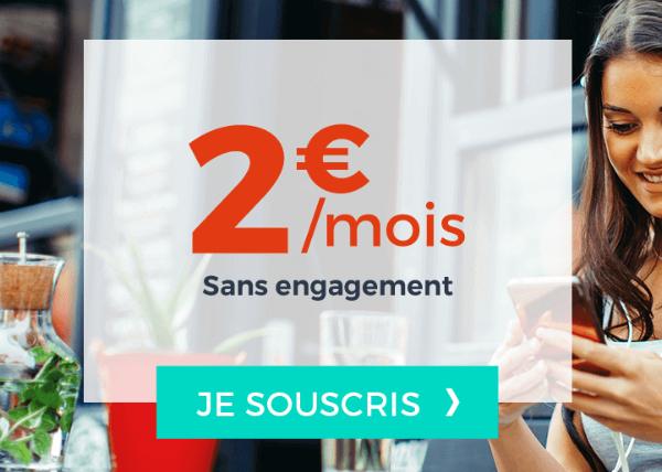 Sans engagement, forfait pas cher à 2€ chez Cdiscount Mobile.