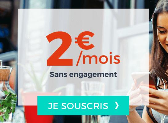 Forfait pas cher à 2€ sans engagement chez Cdiscount Mobile.