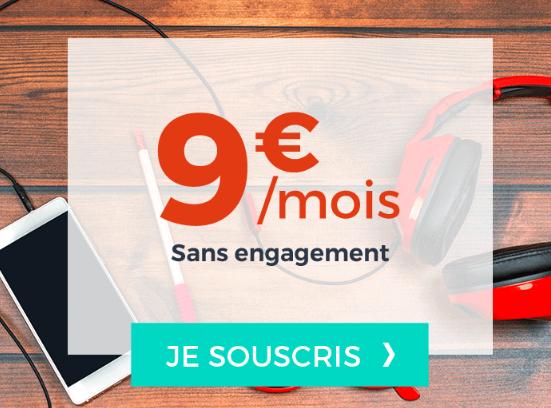 Forfait sans engagement en 4G chez Cdiscount Mobile à 9€.