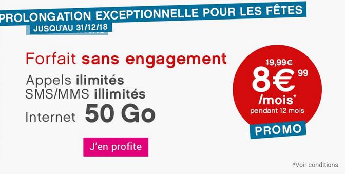 50 Go de 4G pour 8,99€ avec le forfait pas cher de Coriolis Telecom.