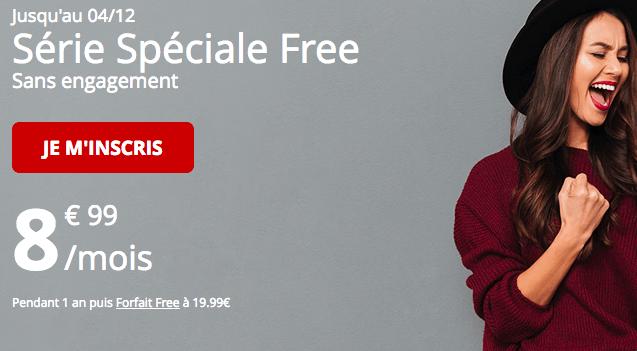 Promotion forfait free série spéciale chez Free.