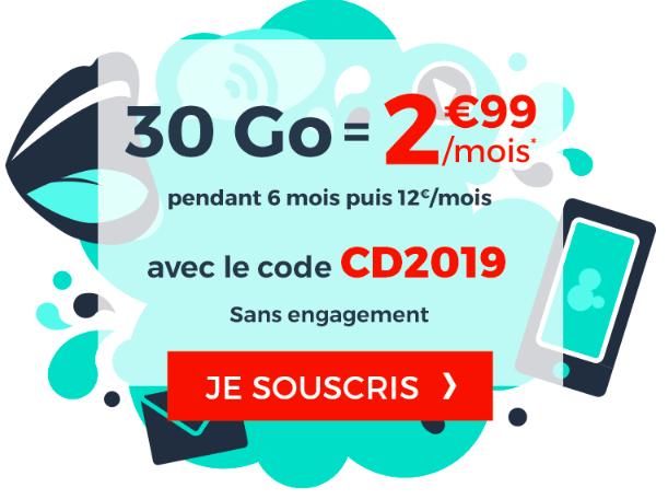 La promotion mobile de Cdiscount à 2,99€.