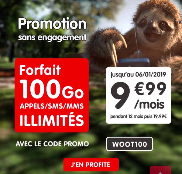 Le forfait NRJ Mobile à 9,99€ par mois.