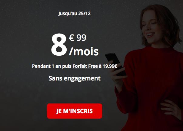 Le forfait 4G 50 Go de Free.