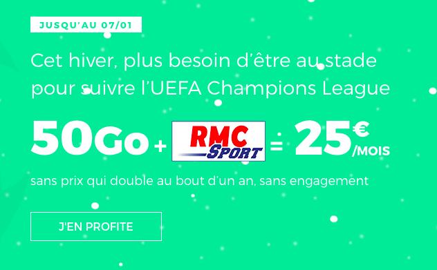 Le forfait 4G de RED by SFR avec RMC.