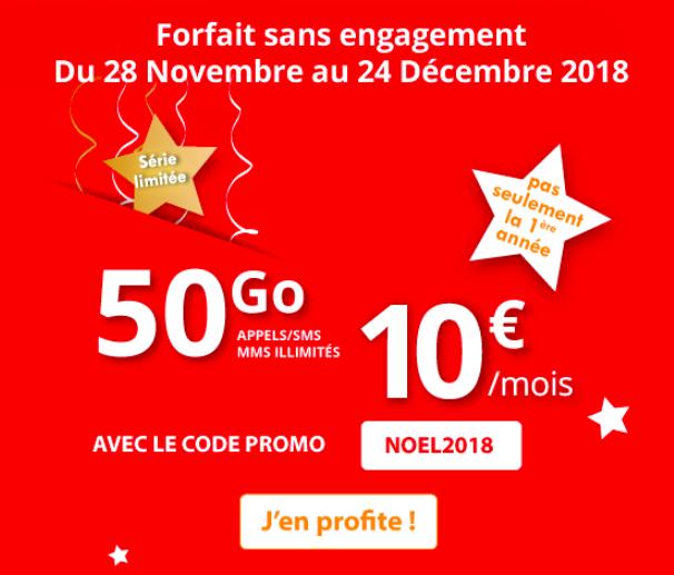 Le forfait 4G à vie d'Auchan Telecom.