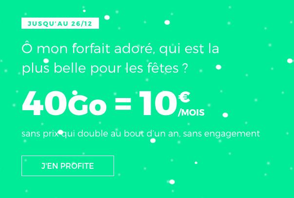 Le forfait 4G de RED by SFR.