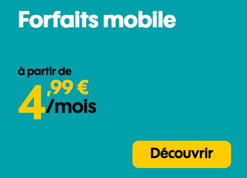 Forfait mobile Sosh en promotion avec 50 Go de 4G.