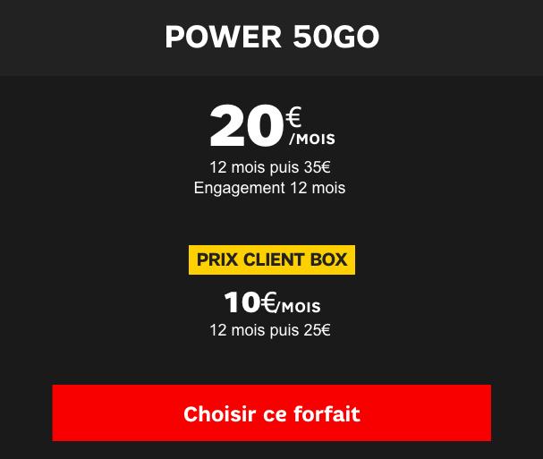 Le forfait 50 Go de SFR.
