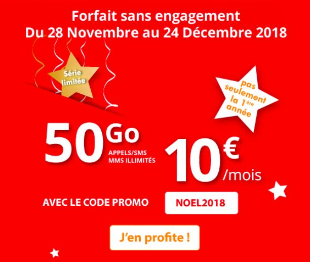 Le forfait de Noël d'Auchan Telecom.