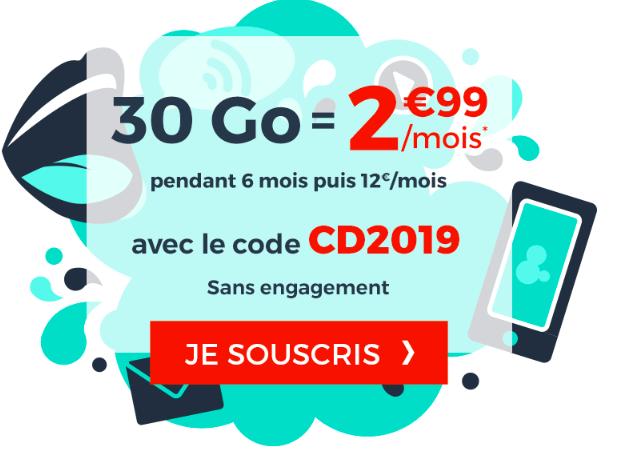 Le forfait 30 Go de Cdiscount Mobile.