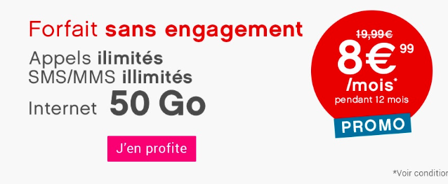 Le forfait 50 Go de Coriolis Telecom.