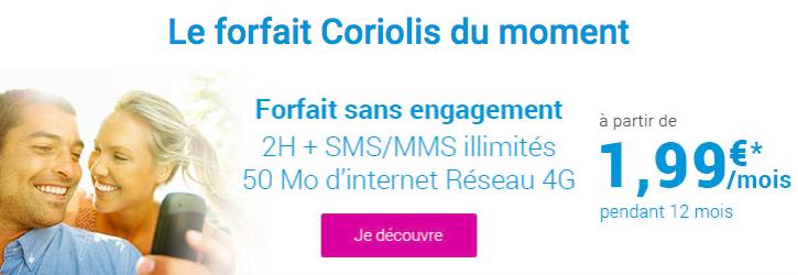 Le forfait Coriolis Telecom