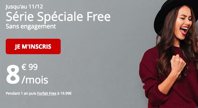 Free forfait mobile série spéciale avec 60 Go de 4G.