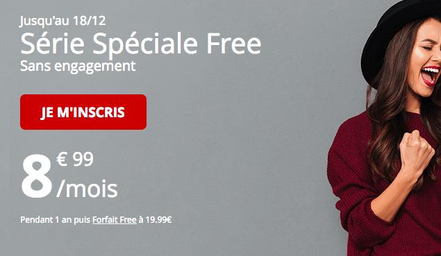 Forfait Free en série spéciale avec 60 Go de 4G.