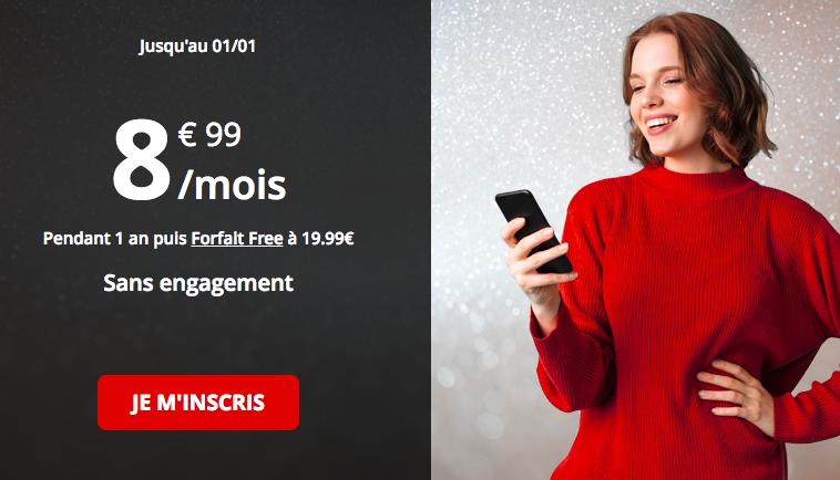 le forfat 50 Go de Free mobile.