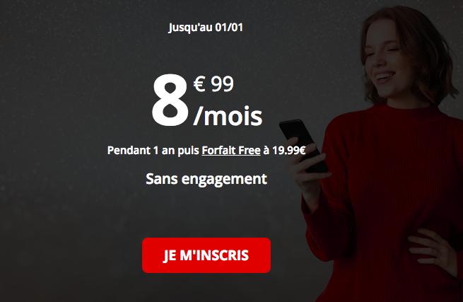 Le forfait Free 50 Go.