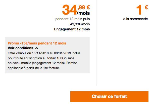 100 Go de 4G dans un forfait mobile Orange en promotion.