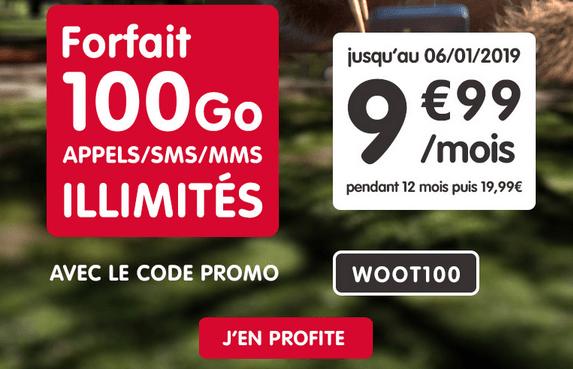 Forfait NRJ Mobile riche en 4G promotion.