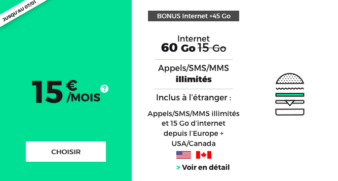 Promotion forfait 4G chez RED by SFR.