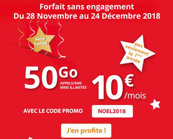 Promotion valable à vie chez Auchan Telecom.