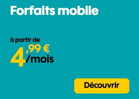 Sosh promo forfait mobile 50 Go 4G.