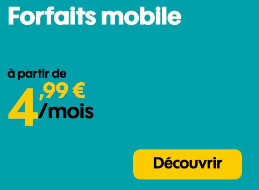Promotion chez Sosh sur les forfaits mobiles sans engagement.