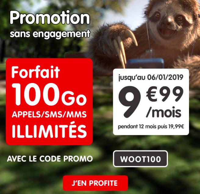 Le forfait 100 Go de NRJ mobile en promotion.