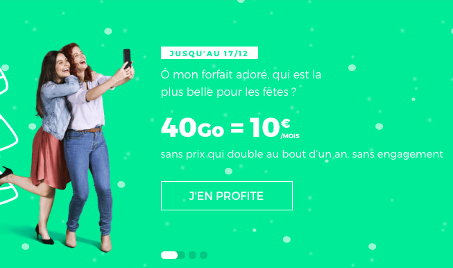 Le forfait pas cher 40 Go de RED by SFR.