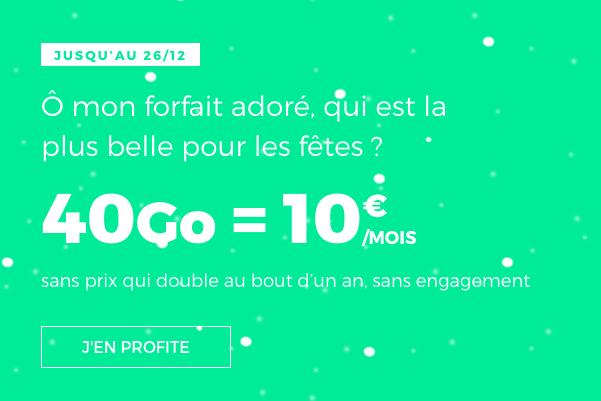 Le forfait de Noël de RED by SFR.