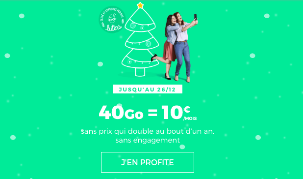 Le forfait sans engagement 40 Go à 10€ de RED by SFR.