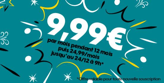 Le forfait sans engagement de Sosh avec 50 Go à 9,99€.