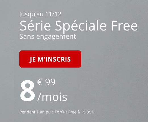 Promo pour un forfait pas cher de Free Mobile.