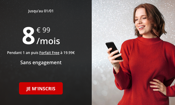 La promotion de Free Mobile pour un forfait pas cher avec 50 go de 4G.