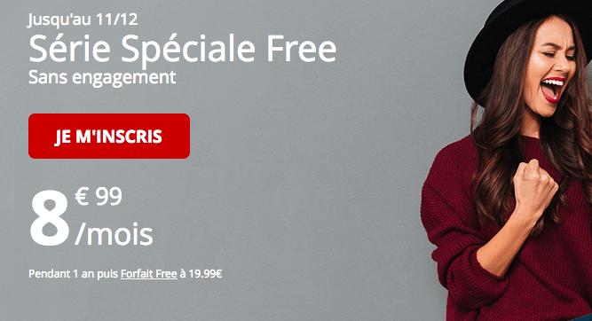 Forfait mobile Free en promotion pas cher.
