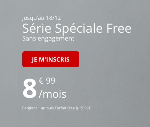 Bon plan chez Free Mobile pour un forfait pas cher et sans engageemnt pour Noël.