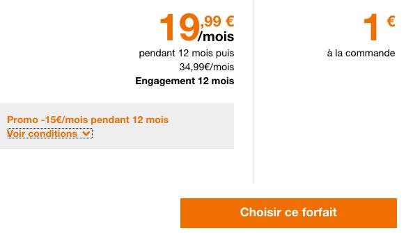 Orange pour un abonnement téléphonique à bas prix avec 50 Go de 4G.