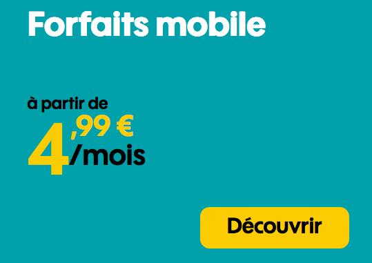 Promotion forfait Sosh pas cher avec 50 Go 4G.