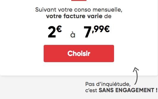 Forfait mobile L'essentiel de Prixtel pas cher.