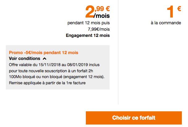 Forfait Orange pas cher en promotion.