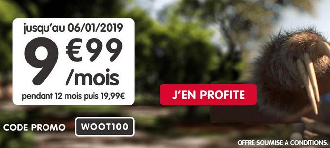 Promo forfait NRJ Mobile avec 100 Go de 4G.