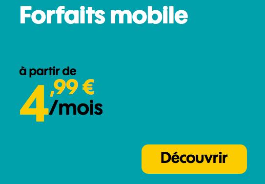 Forfait mobile en promotion avec 50 Go de 4G pas cher.